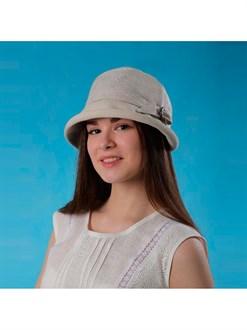 Женская шляпка изо льна