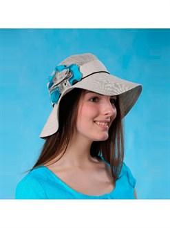 """Женская шляпа из льна """"Эсмиральда"""""""