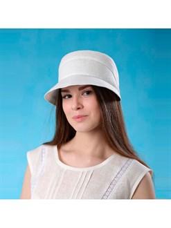 Льняная шапочка на резинке