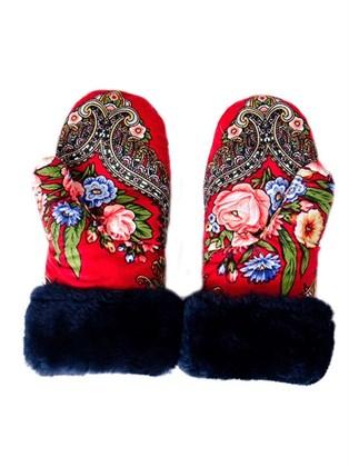 Женские рукавицы из овчины