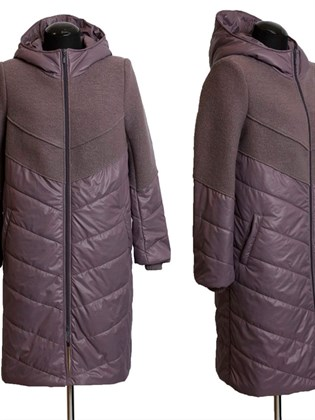 Пальто из валяной шерсти и плащевки