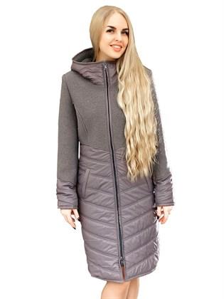 Женское пальто (валяная шерсть+плащевка)