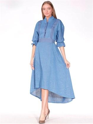 Платье трикотажное из льна