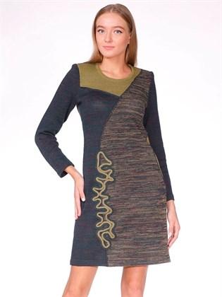 Платье льняное прямое