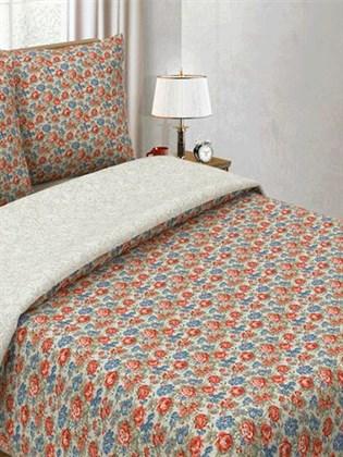 """Комплект постельного белья """"Летние цветы-Белый узор""""- 1,5 спальный"""