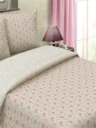 Комплект постельного белья 1,5 спальное из льна - Букет сиреневый