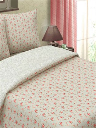 """Комплект постельного белья """"Букет красный""""- двухспальный"""