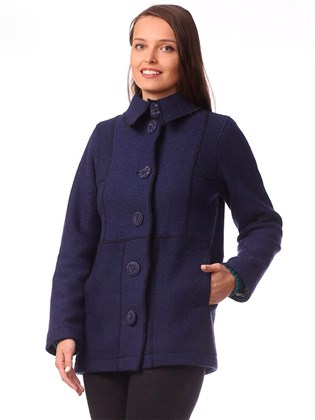 Куртка-пальто из вареной шерсти