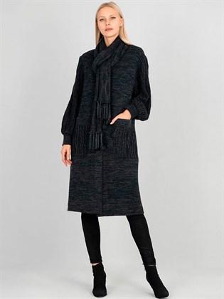 Пальто из полушерсти и льна