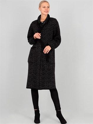 Пальто из льна и полушерсти