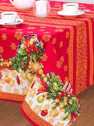 """Скатерть новогодняя """"Рождество"""" хб"""