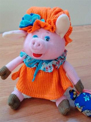 """Игрушка из ткани и трикотажа """"Свинка"""""""