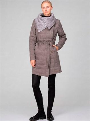 Пальто из льняной ткани - утепленное