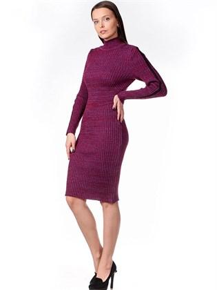 Трикотажное платье-резинка