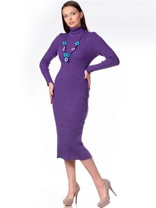 Платье-резинка из льна и полушерсти