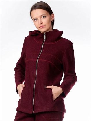 Куртка-жакет на молнии (вареная шерсть)
