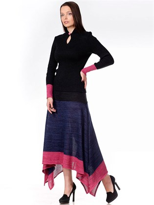 Длинная юбка из льна и полушерсти