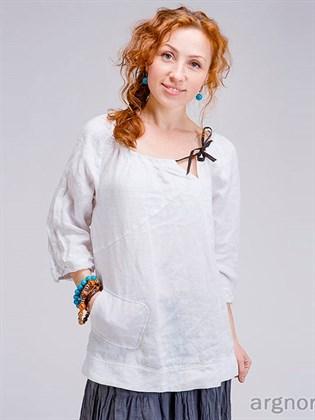 Блуза в стиле бохо из льна