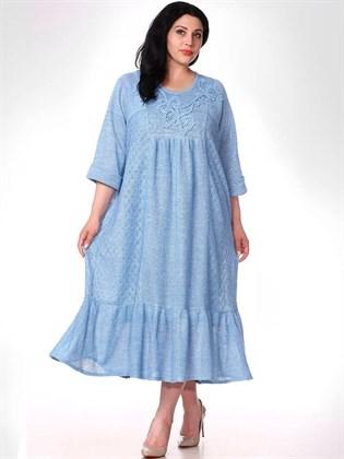 Платье из льняного трикотажа