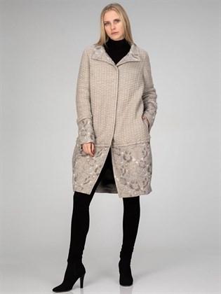 Пальто утепленное (лен, полушерсть)