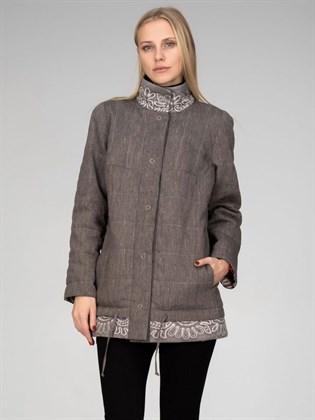 Куртка утепленная (лен+трикотаж)