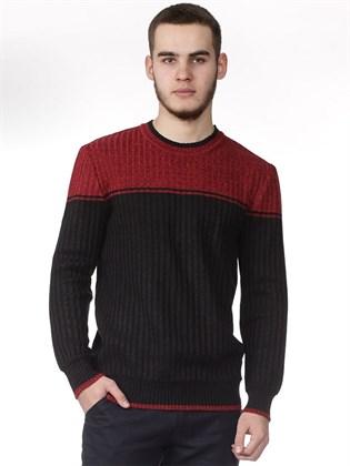 Джемпер мужской черный с красным