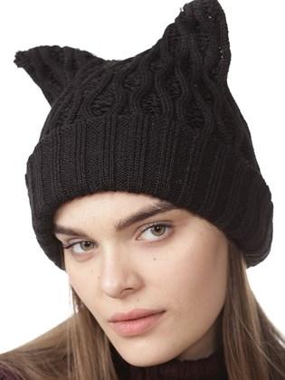 Вязаная двойная шапка