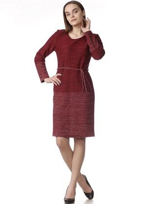 Платье вишня с люрексом
