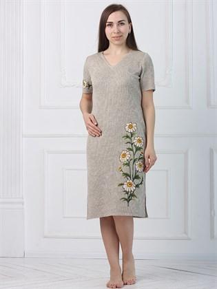 Прямое платье с цветами