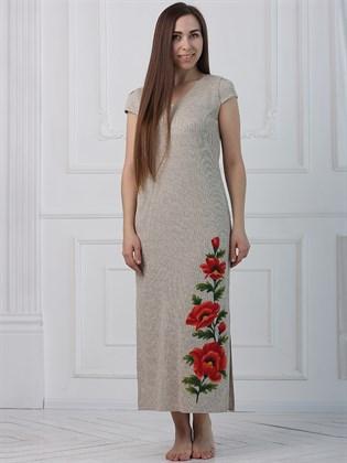 Длинное платье с разрезами