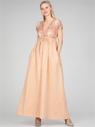 Льняное платье с завышенной талией