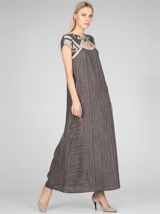 Платье длинное льняное