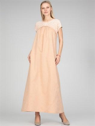 Женское длинное платье из льна