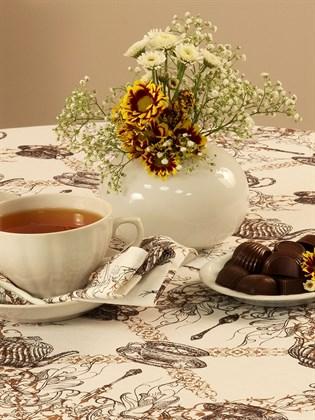 """Скатерть льняная """"Время пить чай"""""""
