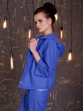 Блузка льняная с капюшоном