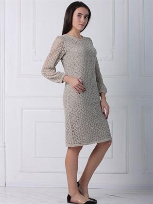 Ажурное платье из льна