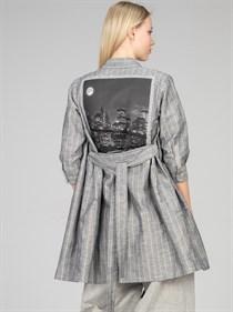 Блуза-платье изо льна