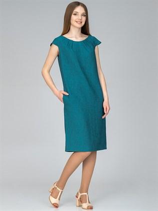 Платье прямое изо льна