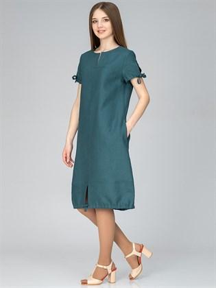 Платье-баллон из льна