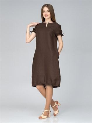 """Платье льняное в форме """"баллон"""""""