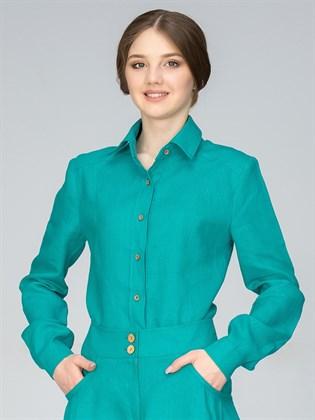 Рубашка женская из льна
