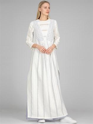 Платье льняное - двухслойное