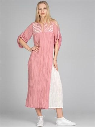 Платье из жатого льна