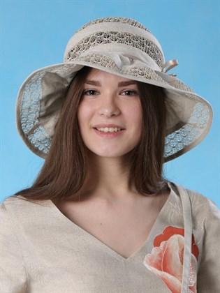 """Летняя шляпка изо льна """"Прелеста"""""""