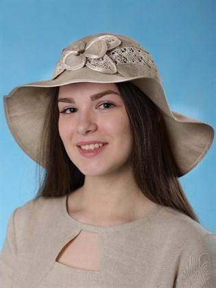 """Льняная женская шляпа """"Валенсия"""""""