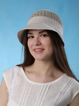 Льняная женская шляпка