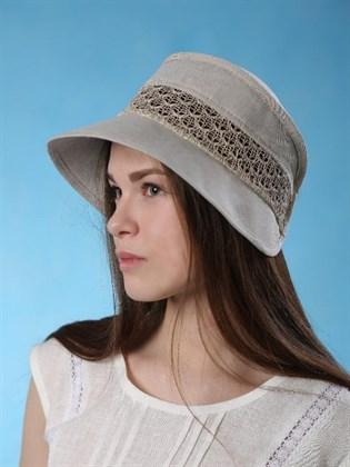 """Льняная шапочка """"Стелла"""" на резинке"""