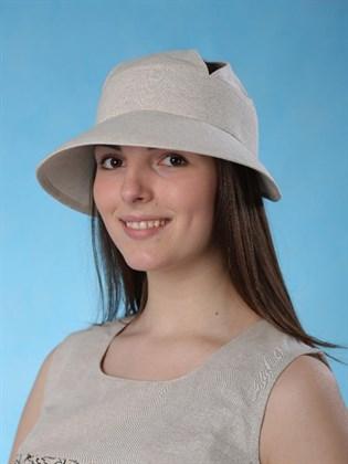 """Льняная шляпа на резинке """"Долли"""""""