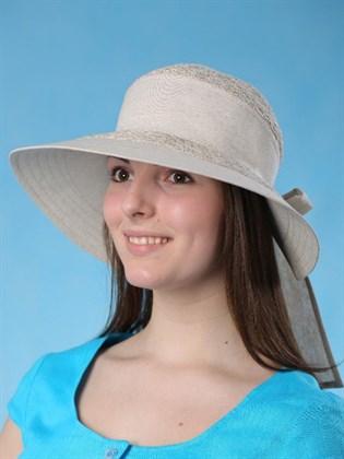 """Льняная шляпа с большими полями """"Виктория"""""""