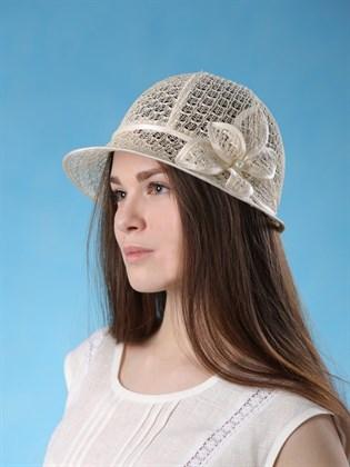 """Льняная шляпка """"Паутинка"""""""